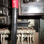 Burnt electrical neutral bus bar